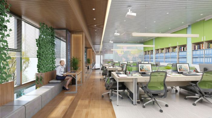 Văn phòng hướng Tây giúp thu hút vượng khí, công việc thuận lợi