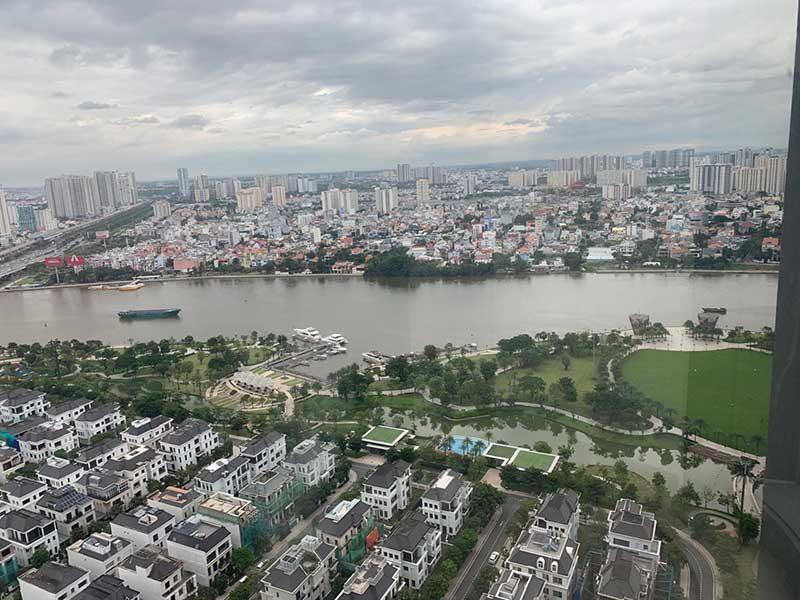 View nhìn từ căn hộ văn phòng Landmark 81