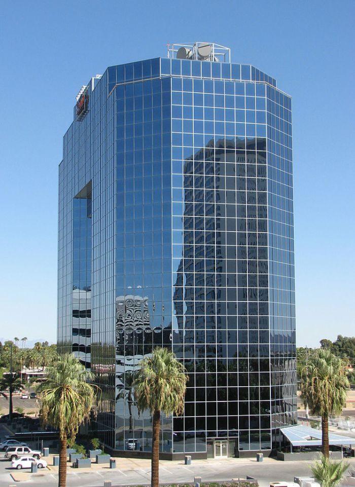 Tòa cao ốc có thiết kế ấn tượng