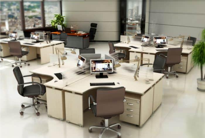 Không gian văn phòng cho thuê bên trong tòa nhà