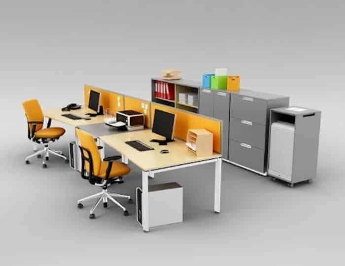 Không gian văn phòng chuyên nghiệp không thể thiếu máy in, máy photocopy