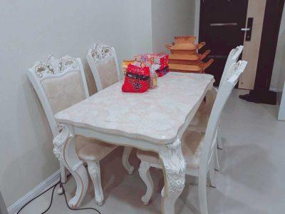 bàn ăn theo phong cách châu âu