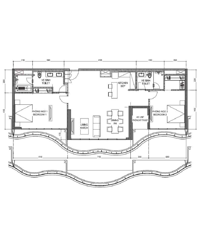 Mat bang Aqua Suite E2