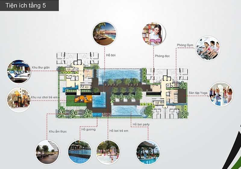 Tiện ích dự án cho thuê căn hộ The Ascent Thảo Điền