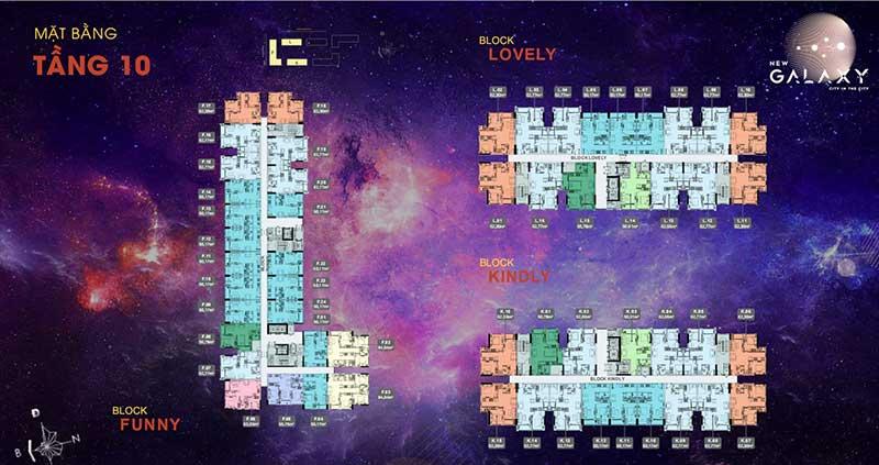 Mặt bằng tầng 10 Block Funny New Galaxy
